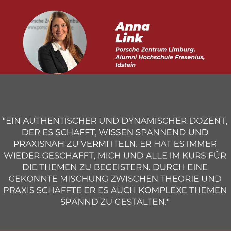 Statement Anna Link
