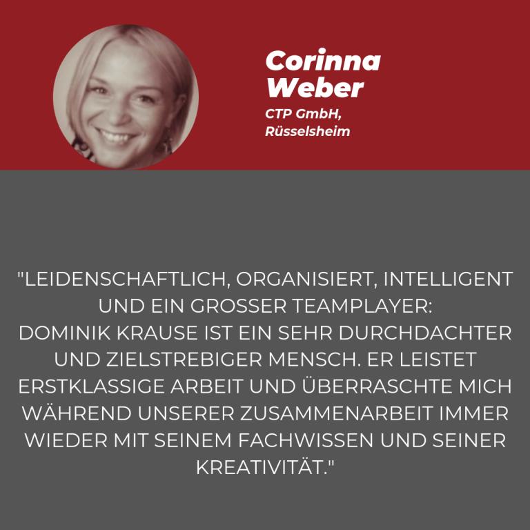 Statement Corinna Weber