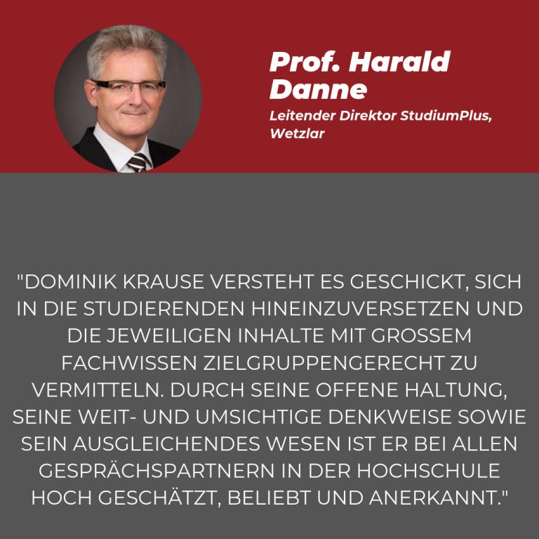 Statement Harald Danne