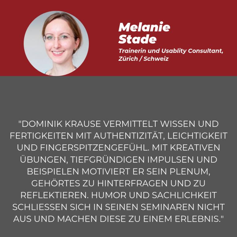 Statement Melanie Stade