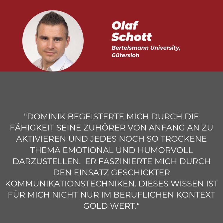 Statement Olaf Schott