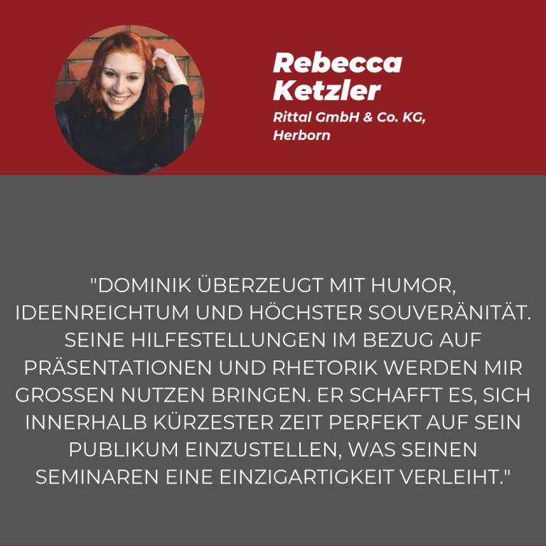 Statement Rebecca Ketzler