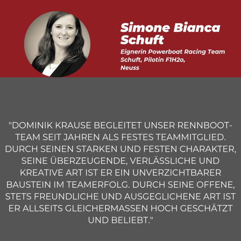 Statement Simone Schuft